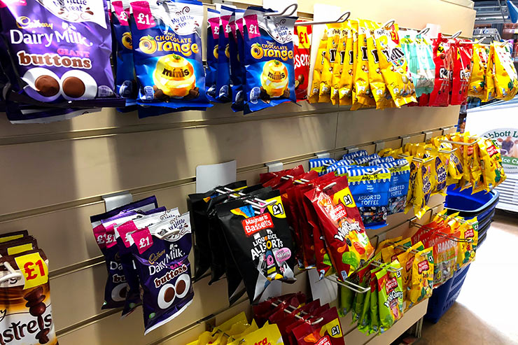 Large Selection of Snacks and Sweets