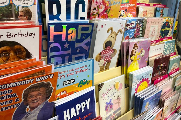Large Selection of Greetings Cards