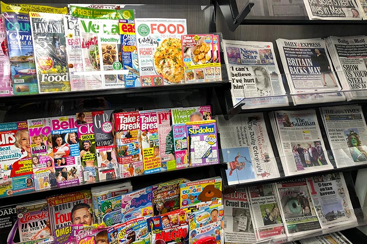 Large Selection of Newspapers & magazines