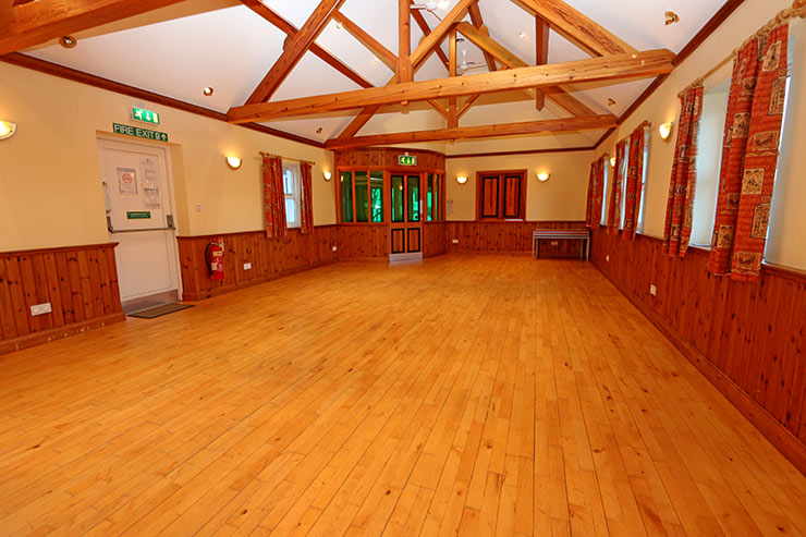 Inside Millhouse Village Hall